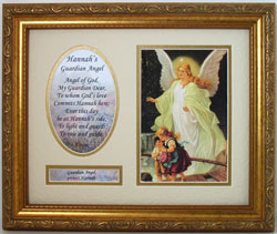 Personalized Guardian Angel 8x10 Plaque #MFS-GA5-0