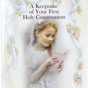 First Communion Keepsake Book with Rosary #11400-COG-0