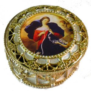 Undoer of Knots Rosary Box #489-OLK-0