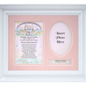 Personalized Newborn Baby Girl Frame 10101-0