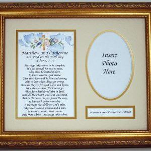 Personalized Marriage Takes Three 8x10 Plaque #MFS-MT3-0