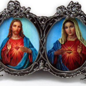 Sacred Heart Immaculate Heart Desk Ornament #2300-0