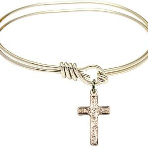 Cross Bangle Bracelet-0