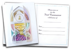 First Communion Card Kit Invitations 5 pack-0