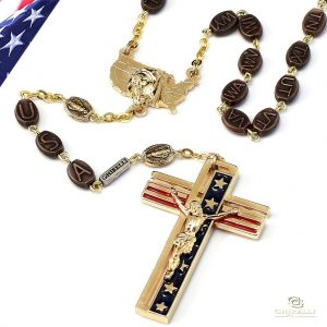The USA Rosary in Gold Finish-0